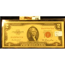 Series 1953 Two Dollar United States Note, S/N *A42976472A, Crisp Uncirculated.