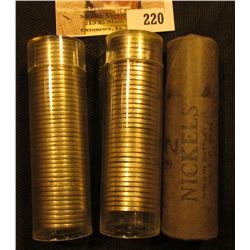 (3) Rolls of unchecked by me U.S. Nickels, one of which appears to be old Buffalo style. Counts are
