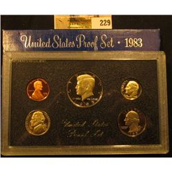 1983 S Cameo Frosted U.S. Proof Set in original holder. Includes Cent to Half-Dollar.