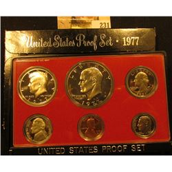 1977 S Cameo Frosted U.S. Proof Set in original holder. Includes Cent to Eisenhower Dollar.