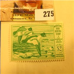 1949 RW16 Federal Migratory Bird Hunting $1 Stamp, unsigned, original gum, NH, VF.