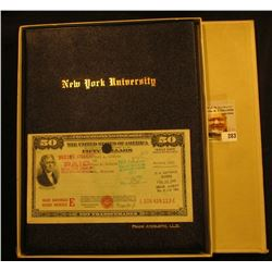 "June 5, 1940 Diploma ""The Chancellor and Council New York University…confer upon Frank Aydelotee the"
