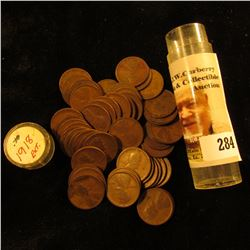 Roll of (50) 1918 U.S. Lincoln Cents in a plastic coin tube.