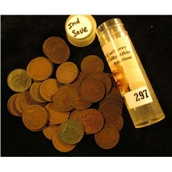 (50) Mixed date and Grade U.S. Indian Head Cents in a plastic tube.