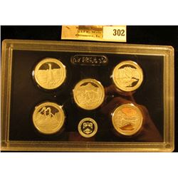 2011 S U.S. Silver Quarter Proof Set, in original hard plastic case. (5 pcs.).