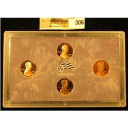 2009 S Four-Piece U.S. Lincoln Cent Proof Set. Contains all four varities in a holder as issued by t