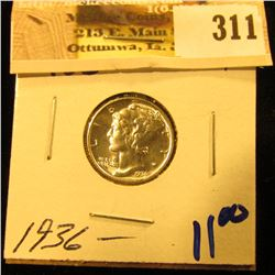 1936 Mercury Dime in a super nice High Grade.