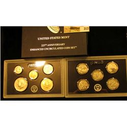 2017 S 225th Anniversary Enhanced Uncirculated Coin Set in Original box, as issued by the U.S. Mint.