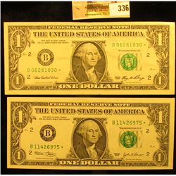 Series 2003 & Series 2006 Star Replacement $1 Federal Reserve Notes. AU-Unc.