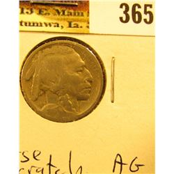1913 S Type Two  Buffalo Nickel, About Good, obverse scratch.