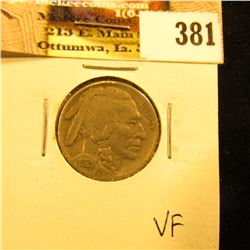 1921 P Buffalo Nickel, VF.