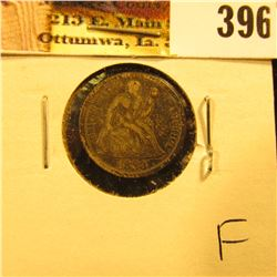 1883 P U.S. Seated Liberty Dime, Fine.
