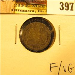 1884 P U.S. Seated Liberty Dime, Fine/VG.