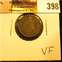 1885 P U.S. Seated Liberty Dime, VF.