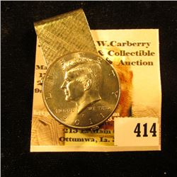 2011 P Kennedy Half Dollar, Brilliant Uncirculated, but mounted in a Money Clip.