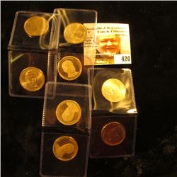 (7) Different Presidential One Dollar Coins, (3) of which are impaired Proofs.