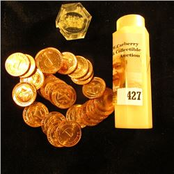 (30) Uncirculated Philadelphia & Denver U.S. Mint Medals in a hexagonal coin tube.