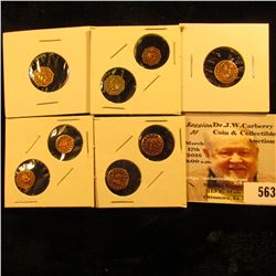 """Group of (8) different Gilt """"California Gold"""" Tokens. All appear to BU and gilt base metal."""