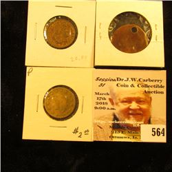 Group of (3) different (one holed) Spielmarke copies of U.S. Gold Coins. Est. Value $25.00.
