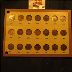 Wayte Raymond page with 1883-1903 Indian cents. Complete.