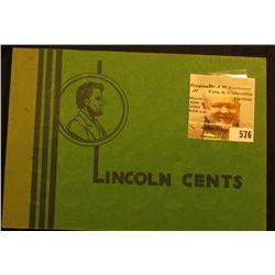 "1909-48 Partial Set of  Lincoln Cents in a green ""Popular Album"". Includes the 1909, 10, 11, 12, 13,"
