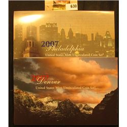 2007 P & D U.S. Mint Set. Original as issued. Issued at $22.95, this set includes $13.82 face value