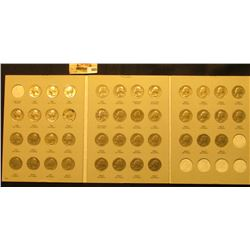 1965-87D Complete Set of U.S. Washington Quarters in a blue Whitman folder exhibited in an attractiv