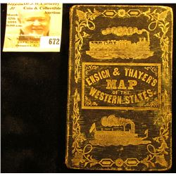 1852 Midwestern Railroad Steamboat, Canal, Routes of travel Guide. (map is missing).