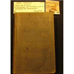 """1855 Original """"Iowa As It Is"""" """"A Gazetteer for Citizens and a Handbook for Emmigrants"""", By Parker. '"""