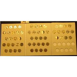 1969-2016 Set of Jefferson Nickels with all BU or Proof issues stored in a Harris Coin Folder. (57 p