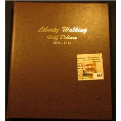 """Deluxe """"World Coin Library"""" Coin Album for """"Liberty Walking Half Dollars 1941-1947"""" containing a 194"""