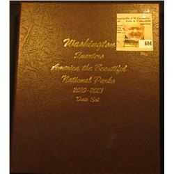 """Deluxe """"World Coin Library"""" Coin Album for """"Washington Quarters America the Beautiful National Parks"""
