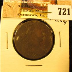 1802 U.S. Large Cent, G-VG. Edge ding at 12 o'clock.
