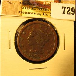 1845 U.S. Large Cent, F-VF.