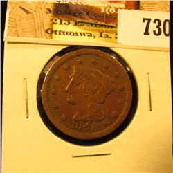 1848 U.S. Large Cent, VF.