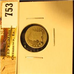 1832 Capped Bust Half Dime, holed, Fair-AG.