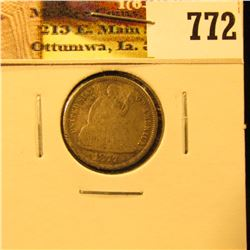1877 CC U.S. Seated Liberty Dime, VF with numerous scratches..