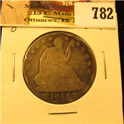 1855 O U.S. Seated Liberty Half-Dollar, Good.