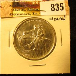 1925 Stone Mountain Commemorative Half Dollar, AU, Cleaned.