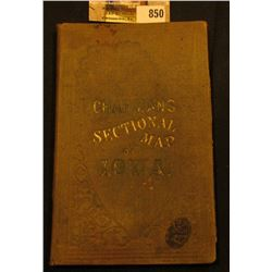 "1856 ""Chapman's Sectional Map of Iowa"", hardbound, 'Doc' valued this in his personal collection at $"
