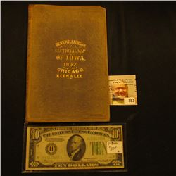 """Cover without Map """"Henn, Williams & Co. Sectional Map of Iowa, 1857. Chicago, Keen & Lee; & Series 1"""