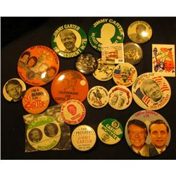 Group of (20) Old Political & University of Iowa Pin-backs.  All are different.