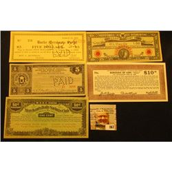 "(5) Different 1933-36 U.S. Depression Scrip Notes. Includes ""Burke Merchants Script"", March 10, 1933"