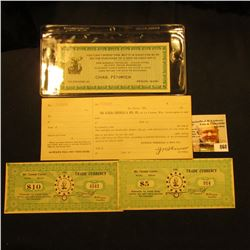 "Mint, unused receipt ""The Eureka Chemical & Mfg. Co., of La Crosse, Wis."", no. 79118, dated in the 1"