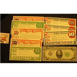 "(8) Different 1954 era ""Kellogg's Dividend Certificate(s)""; & Series 1934B ""H"" Federal Reserve Bank"