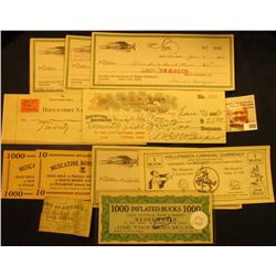 "(10) Consecutive Serial Number Checks from ""Shaw Aircraft Co., Iowa City, Iowa"" 1946-47; (2) Differe"