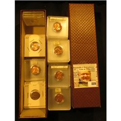 """9"""" Dealer's Stock Box full of Coins. Includes numerous 1960 era BU Lincoln Cents; (10) Indian Cents;"""