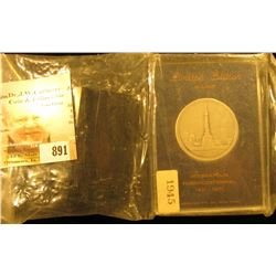 """1821-1971 Limited Edition serial number 1945 Silver Medal """"Indianapolis Sesquicentennial"""", minted by"""