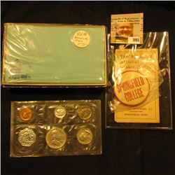 """Original Box with cards """"100 Scenic Mailing Cards Eight Different Scenes""""; 1961 P U.S. Proof Set in"""