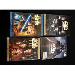 STARWARS 3 PACKS/REVENGE OF THE SITH/ATTACK OF THE CLONES/TRILOGY MATERIAL/9DISC BLU RAY NEW 6 MOVIE